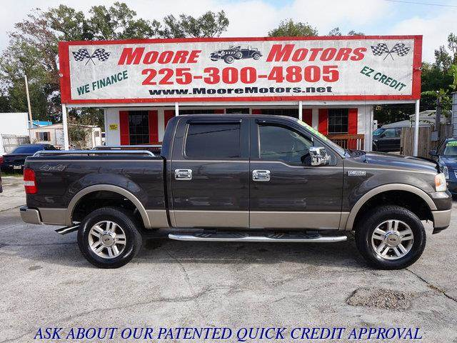 2005 FORD F-150 LARIAT SUPERCREW 4WD brown at moore motors everybody rides good credit bad cred