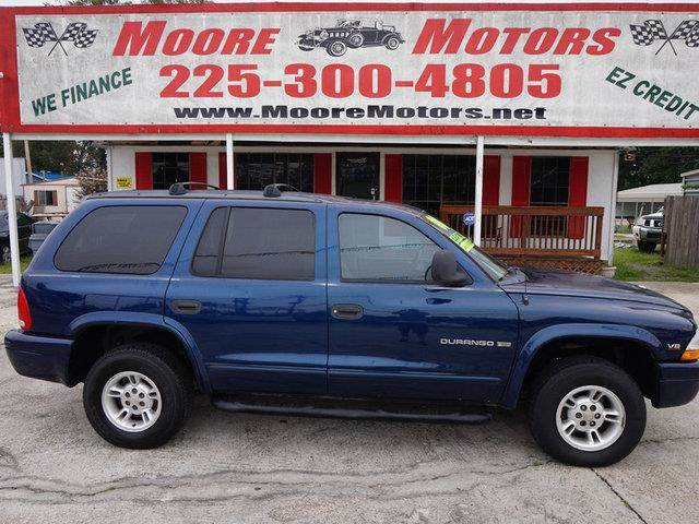 2000 DODGE DURANGO 4WD blue at moore motors everybody rides good credit bad credit no problem