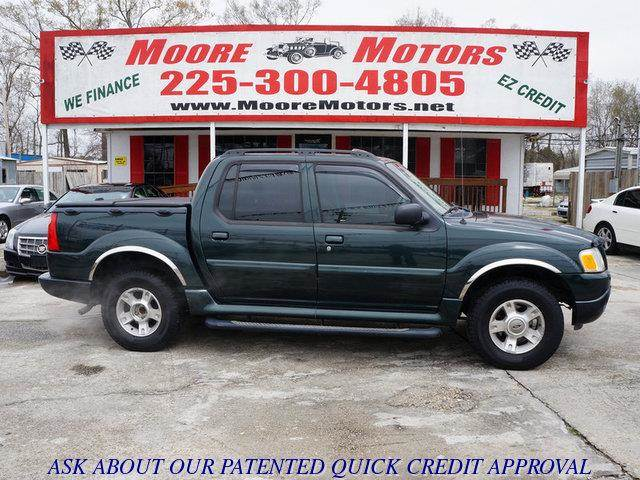 2004 FORD EXPLORER SPORT TRAC SPORT TRAC XLT 2WD green at moore motors everybody rides good cre