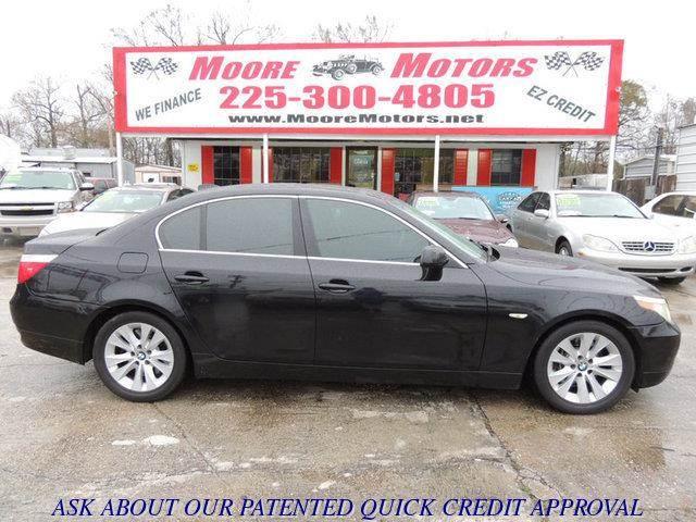 2004 BMW 5 SERIES 545I 4DR SEDAN black at moore motors everybody rides good credit bad credit