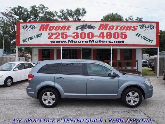 2009 DODGE JOURNEY SXT 4DR SUV blue at moore motors everybody rides good credit bad credit no