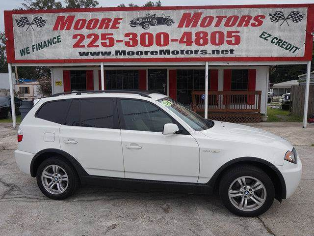 2006 BMW X3 30I AWD 4DR SUV white at moore motors everybody rides good credit bad credit no