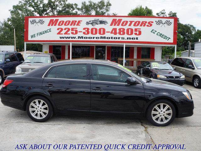 2007 TOYOTA AVALON LIMITED 4DR SEDAN black at moore motors everybody rides good credit bad cre
