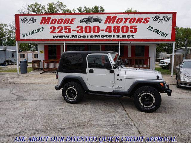 2004 JEEP WRANGLER X 4WD 2DR SUV gray at moore motors everybody rides good credit bad credit