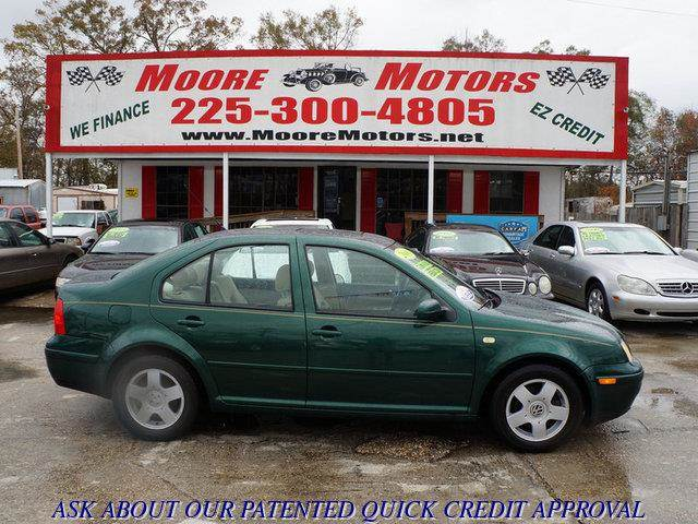 2000 VOLKSWAGEN JETTA GLS 4DR SEDAN green at moore motors everybody rides good credit bad credi