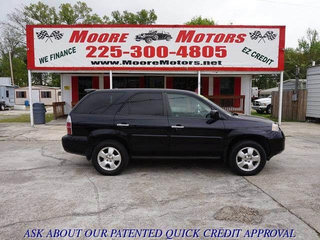 2006 ACURA MDX BASE AWD 4DR SUV black at moore motors everybody rides good credit bad credit