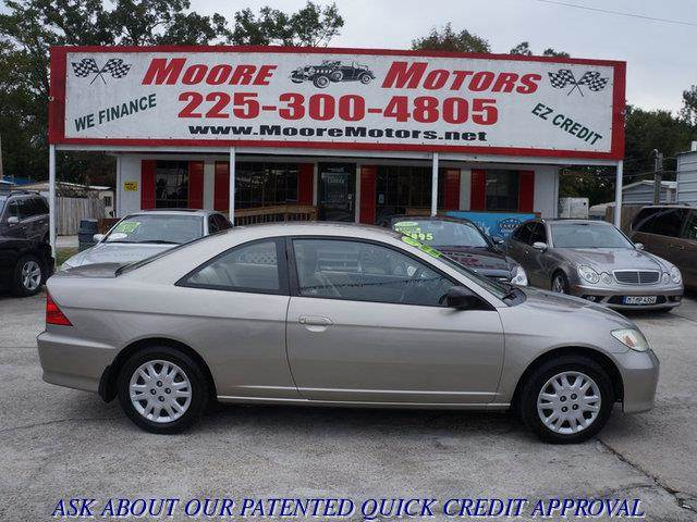 2005 HONDA CIVIC LX 2DR COUPE WFRONT SIDE AIRBAG beige at moore motors everybody rides good cr