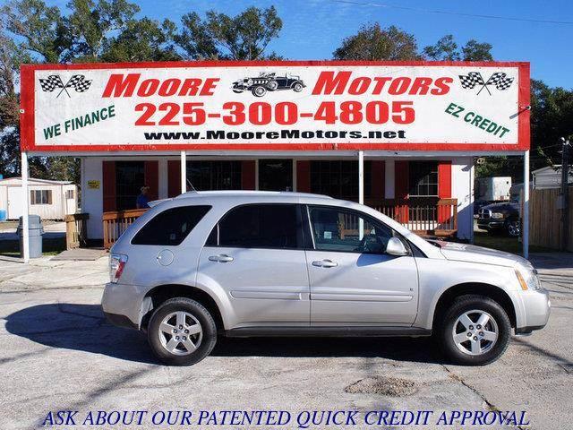 2008 CHEVROLET EQUINOX LT 4DR SUV W1LT silver at moore motors everybody rides good credit bad