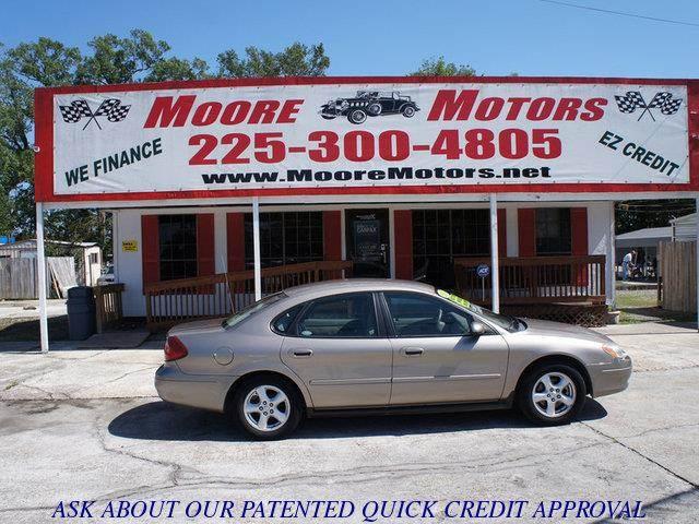 2003 FORD TAURUS SES 4DR SEDAN tan at moore motors everybody rides good credit bad credit no