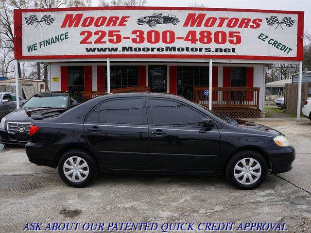 2008 TOYOTA COROLLA LE 4DR SEDAN 4A black at moore motors everybody rides good credit bad cred