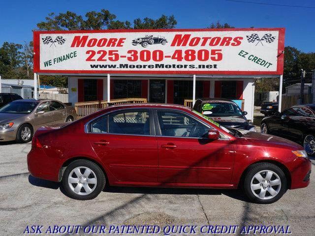 2010 KIA OPTIMA LX 4DR SEDAN I4 5A red at moore motors everybody rides good credit bad credit