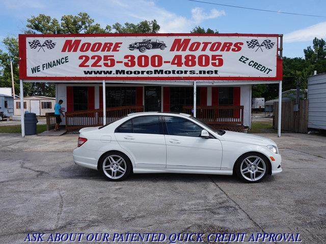 2008 MERCEDES-BENZ C-CLASS C350 SPORT 4DR SEDAN white at moore motors everybody rides good cred