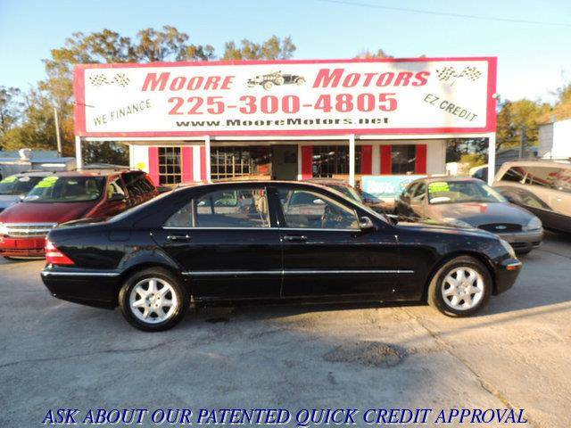 2002 MERCEDES-BENZ S-CLASS S430 4DR SEDAN black at moore motors everybody rides good credit bad