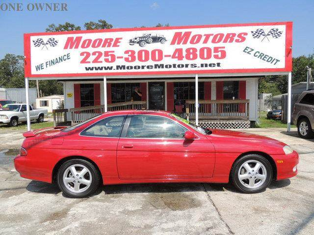 1997 LEXUS SC 300 BASE 2DR STD COUPE red at moore motors everybody rides good credit bad credi