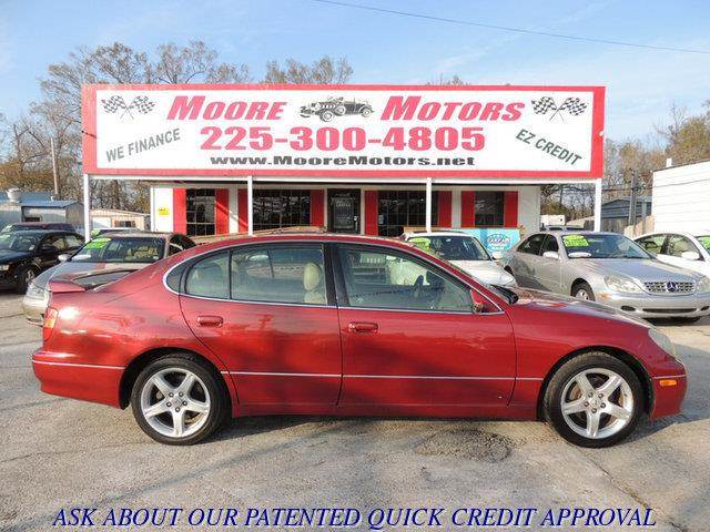 1998 LEXUS GS 400 BASE 4DR STD SEDAN red at moore motors everybody rides good credit bad credi