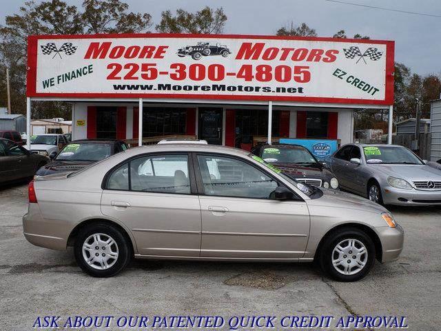 2002 HONDA CIVIC LX 4DR SEDAN gold at moore motors everybody rides good credit bad credit no p