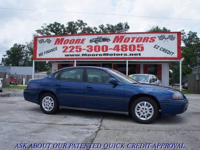 2005 CHEVROLET IMPALA BASE 4DR SEDAN blue at moore motors everybody rides good credit bad cred