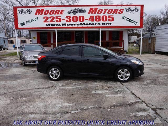 2012 FORD FOCUS SE 4DR SEDAN black at moore motors everybody rides good credit bad credit no