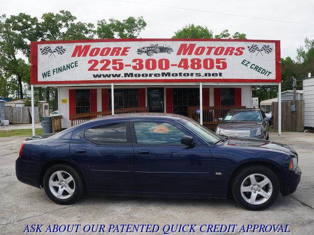 2006 DODGE CHARGER SE 4DR SEDAN blue at moore motors everybody rides good credit bad credit no