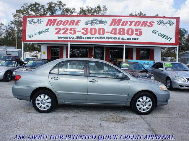 2003 TOYOTA COROLLA CE 4DR SEDAN gray at moore motors everybody rides good credit bad credit
