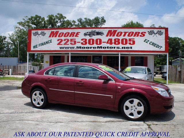 2007 SATURN AURA XE 4DR SEDAN red at moore motors everybody rides good credit bad credit no p