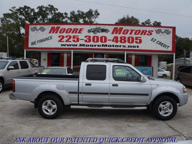 2002 NISSAN FRONTIER SE 4WD silver at moore motors everybody rides good credit bad credit no