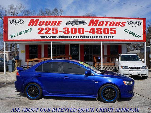 2008 MITSUBISHI LANCER GTS blue at moore motors everybody rides good credit bad credit no pro