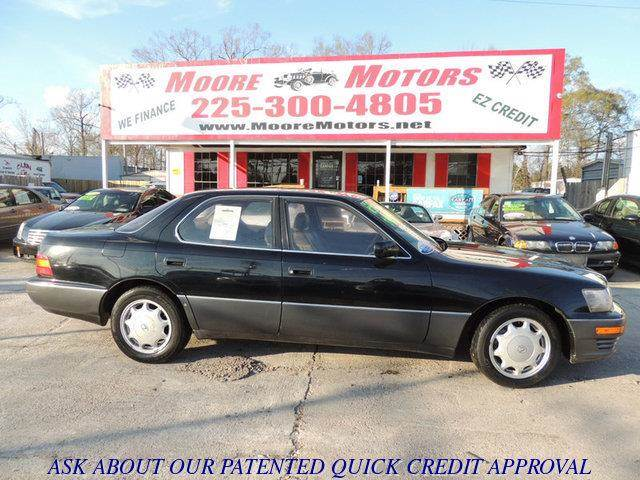 1993 LEXUS LS 400 BASE 4DR STD SEDAN black at moore motors everybody rides good credit bad cre