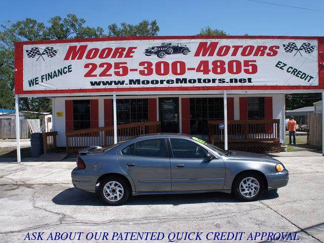 2004 PONTIAC GRAND AM SE 4DR SEDAN gray at moore motors everybody rides good credit bad credit