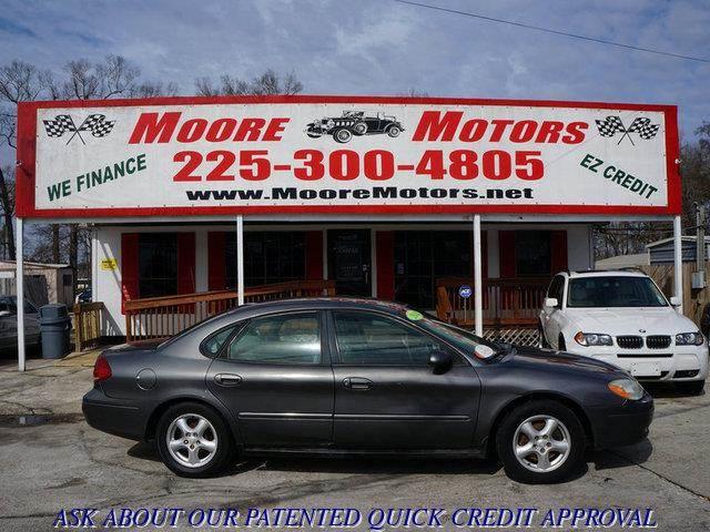 2002 FORD TAURUS SES 4DR SEDAN gray at moore motors everybody rides good credit bad credit no