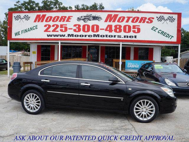 2007 SATURN AURA XR 4DR SEDAN black at moore motors everybody rides good credit bad credit no