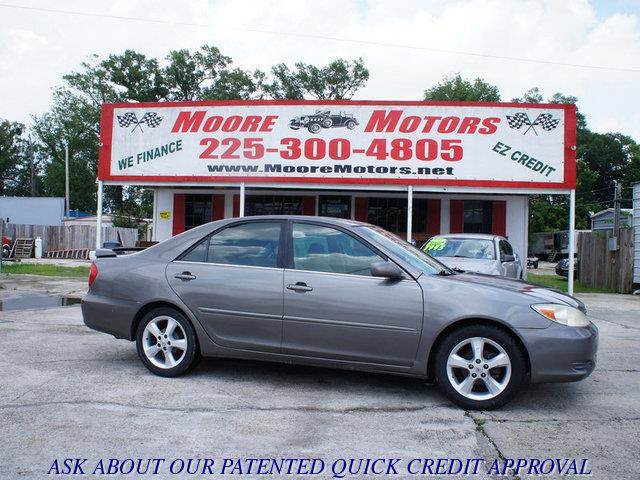 2003 TOYOTA CAMRY LE 4DR SEDAN pewter at moore motors everybody rides good credit bad credit