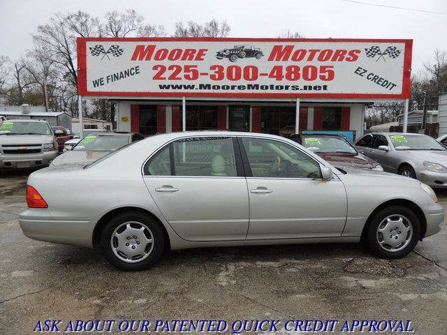 2002 LEXUS LS 430 BASE 4DR SEDAN silver at moore motors everybody rides good credit bad credit