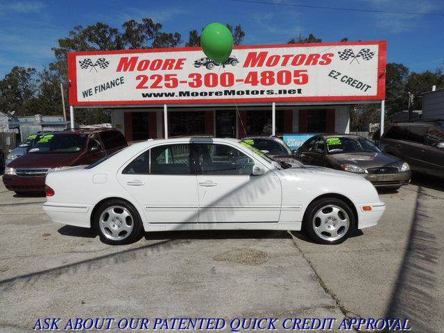 2000 MERCEDES-BENZ E-CLASS E430 4DR SEDAN white at moore motors everybody rides good credit bad