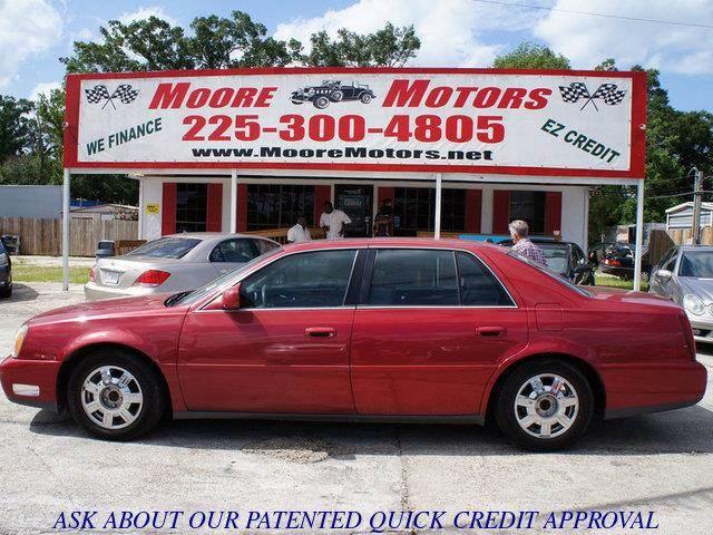 2004 CADILLAC DEVILLE BASE 4DR SEDAN red at moore motors everybody rides good credit bad credit