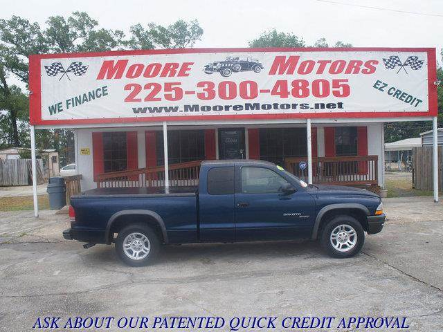 2002 DODGE DAKOTA SPORT blue at moore motors everybody rides good credit bad credit no problem