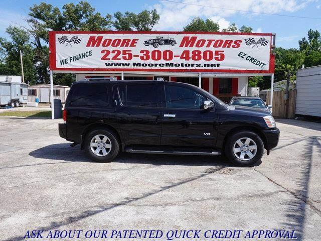 2006 NISSAN ARMADA SE 2WD black at moore motors everybody rides good credit bad credit no pro