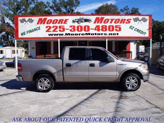 2005 FORD F-150 LARIAT SUPERCREW 2WD brown at moore motors everybody rides good credit bad cred