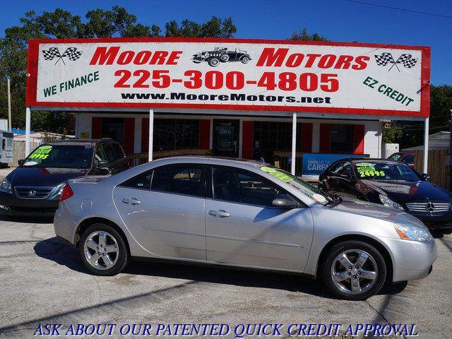 2008 PONTIAC G6 GT 4DR SEDAN silver at moore motors everybody rides good credit bad credit no