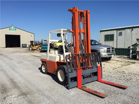 Nissan 9K Pound Pick Forklift Dual Front Wheels Diesel Engin for sale in Gilman, IL