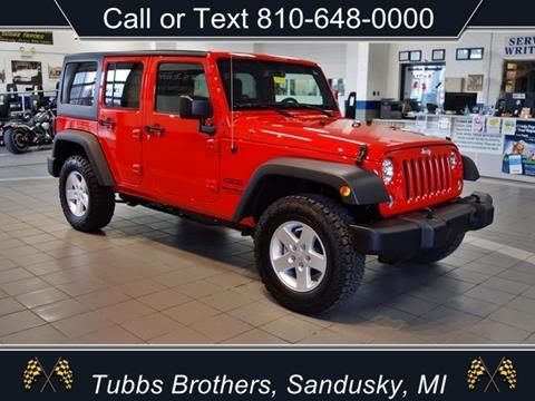 2017 Jeep Wrangler Unlimited for sale in Sandusky, MI