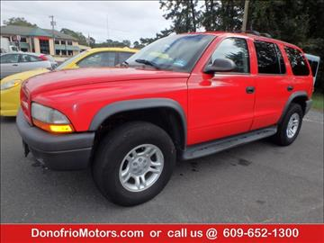 2003 Dodge Durango for sale in Galloway, NJ