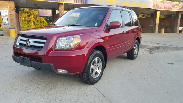 2006 HONDA PILOT EX-L 4DR SUV cherry 1 owner 0 accidents loaded with leather and sunroof has h