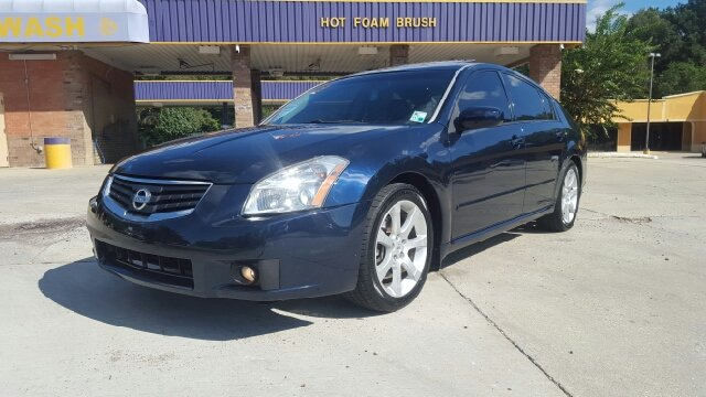 2008 NISSAN MAXIMA 35 SE 4DR SEDAN blue fully loaded with leather sunroof bose bluetooth key