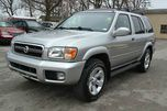2003 NISSAN PATHFINDER LE 4DR SUV silver loaded with leather and power sunroof and bose sound wit