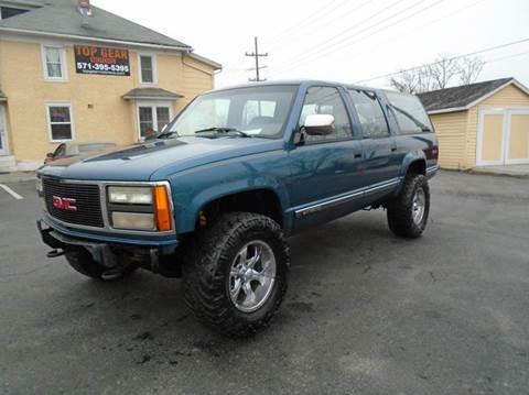 1992 gmc suburban for sale for Top gear motors winchester va
