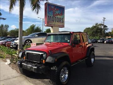 2008 Jeep Wrangler Unlimited for sale in Lake Worth, FL