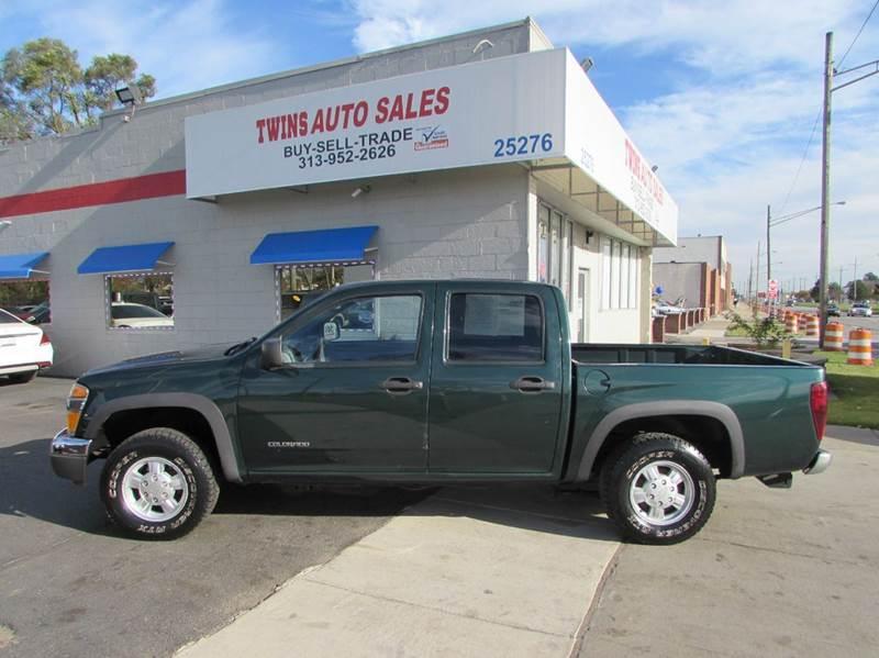 2005 CHEVROLET COLORADO Z71 LS BASE 4DR CREW CAB 4WD SB green 2005 chevrolet colorado ls z71 su