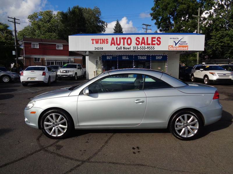 2008 VOLKSWAGEN EOS KOMFORT 2DR CONVERTIBLE 6A silver 2008 volkswagen eos komfort super cleanm
