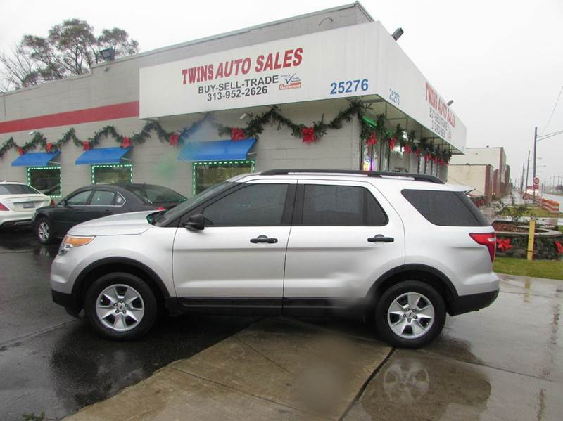 2013 FORD EXPLORER BASE 4DR SUV silver 2013 ford explorer super cleanmust seewe finance v6